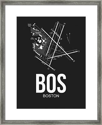 Boston Airport Poster 1 Framed Print by Naxart Studio