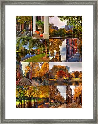 Boston Autumn Days Framed Print by Joann Vitali