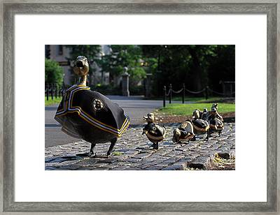 Boston Bruins Ducklings Framed Print by Juergen Roth