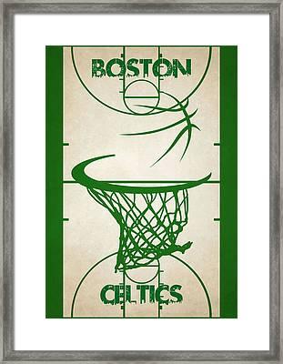 Boston Celtics Court Framed Print by Joe Hamilton