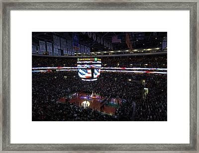 Boston Celtics Under The Star Spangled Banner Framed Print by Juergen Roth