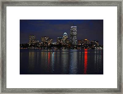 Boston Charles River At Night Framed Print by Toby McGuire