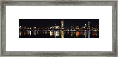 Boston Charles River Panorama Framed Print by Toby McGuire