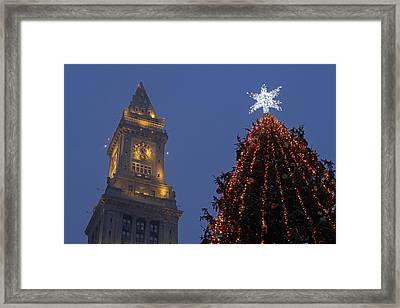 Boston Christmas Tree Lighting Framed Print by Juergen Roth