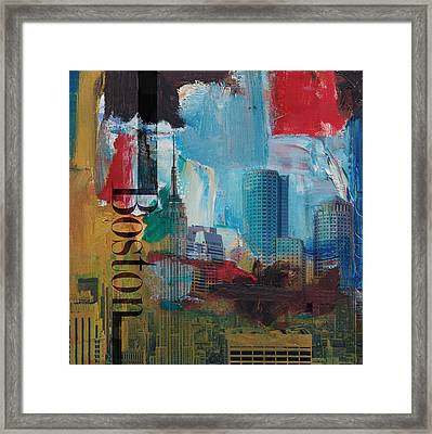Boston City Collage 3 Framed Print by Corporate Art Task Force