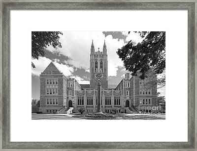 Boston College Gasson Hall Framed Print by University Icons