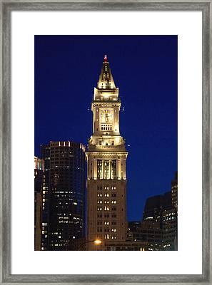 Boston Custom House Framed Print by Joann Vitali