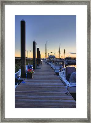 Boston Dock Sunrise Framed Print by Joann Vitali