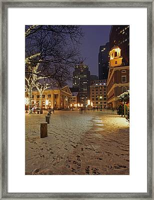 Boston Faneuil Hall And Quincy Market Framed Print by Juergen Roth
