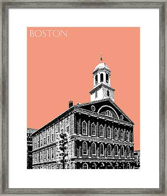 Boston Faneuil Hall - Salmon Framed Print by DB Artist