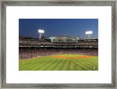 Boston Fenway Park And Red Sox Nation Framed Print by Juergen Roth