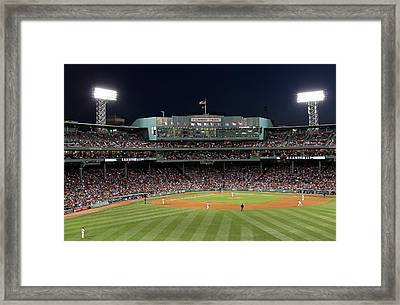 Boston Fenway Park Baseball Framed Print by Juergen Roth
