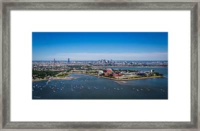 Boston From 500 Feet Framed Print by Paul Treseler