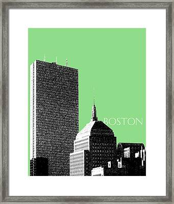 Boston Hancock Tower - Sage Framed Print by DB Artist