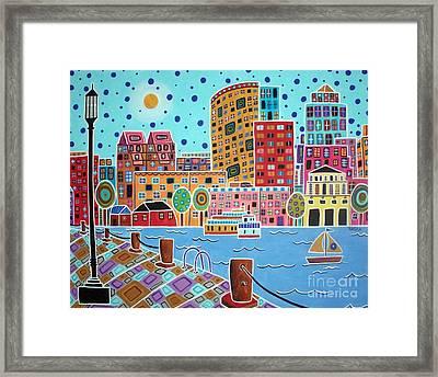 Boston Harbor Framed Print by Karla Gerard