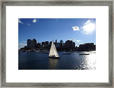 Boston Harbor Framed Print by Olivier Le Queinec