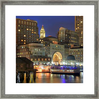 Boston Harbor Party Framed Print by Joann Vitali