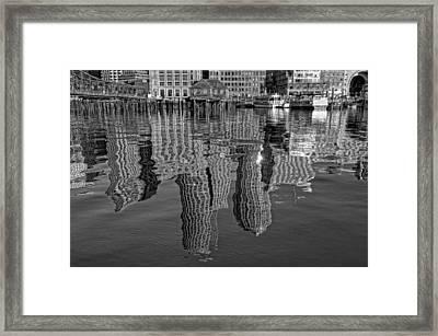 Boston Harbor Reflections Framed Print by Joann Vitali