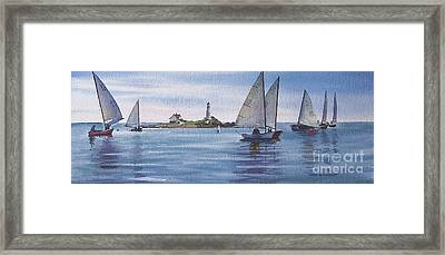 Boston Harbor Spring Sail Framed Print by Karol Wyckoff