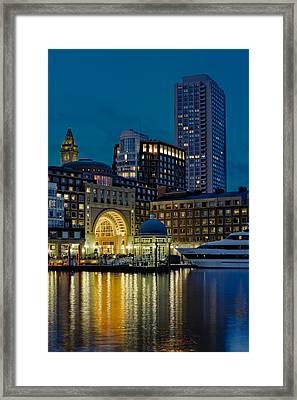 Boston Harbor Framed Print by Susan Candelario