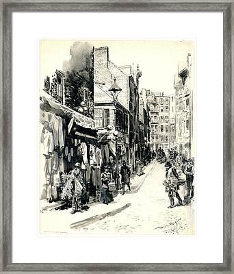 Boston Jewish Quarter 1899 Framed Print by Padre Art