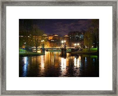 Boston Lagoon Bridge Framed Print by Joann Vitali