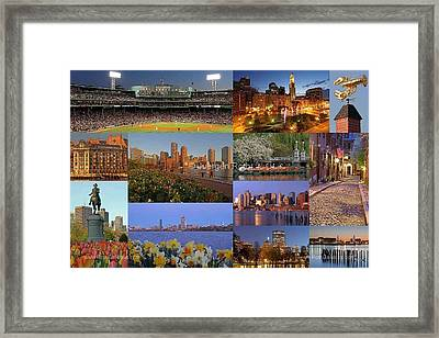 Boston Landmarks Photography  Framed Print by Juergen Roth