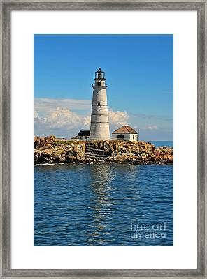 Boston Light Framed Print by Catherine Reusch  Daley
