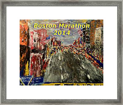 Boston Marathon 2014 Framed Print by Mark Moore