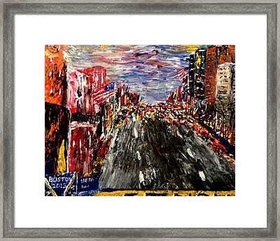 Boston Marathon  Framed Print by Mark Moore