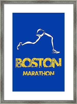 Boston Marathon2 Framed Print by Joe Hamilton