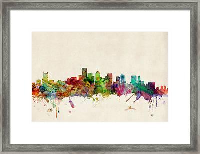 Boston Massachusetts Skyline Framed Print by Michael Tompsett