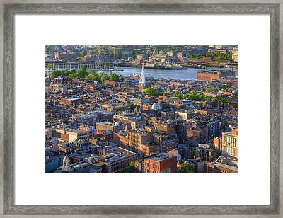 Boston North End Rooftops Framed Print by Joann Vitali