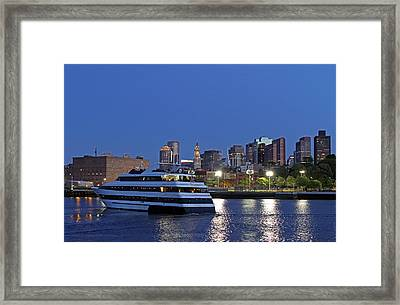 Boston Odyssey Cruise Ship Framed Print by Juergen Roth