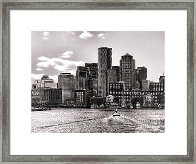 Boston Framed Print by Olivier Le Queinec