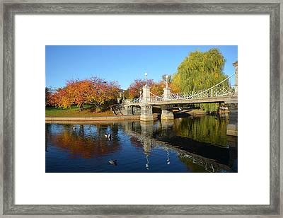 Boston Public Garden Autumn Framed Print by Toby McGuire