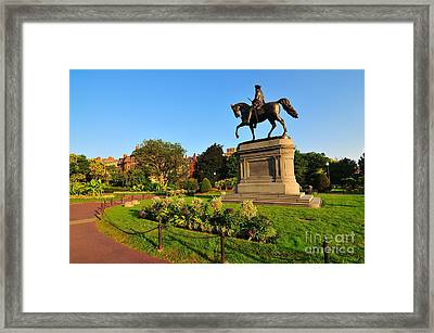 Boston Public Garden Framed Print by Catherine Reusch  Daley