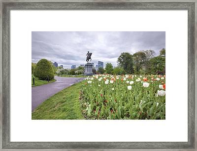 Boston Public Garden Framed Print by Eric Gendron