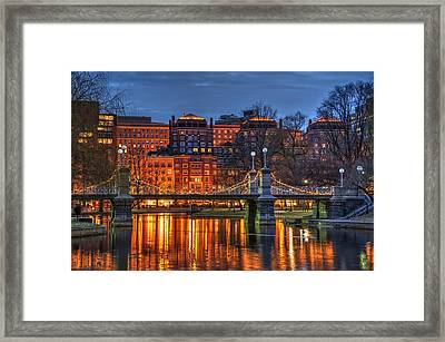 Boston Public Garden Lagoon Framed Print by Joann Vitali