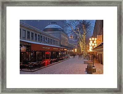 Boston Quincy Market And Faneuil Hall Framed Print by Juergen Roth