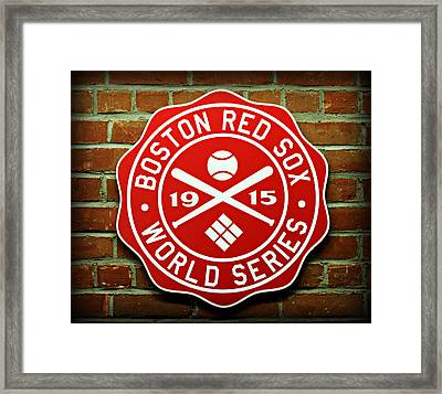 Boston Red Sox 1915 World Champions Framed Print by Stephen Stookey