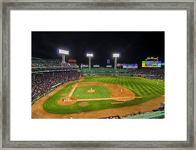 Boston Red Sox And New York Yankees At Fenway Park - Art Framed Print by Donna Doherty
