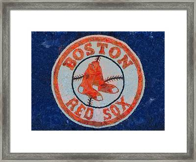 Boston Red Sox Framed Print by Dan Sproul