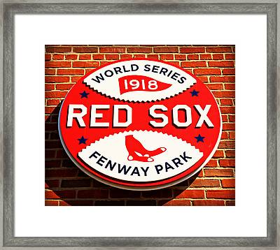 Boston Red Sox World Series Champions 1918 Framed Print by Stephen Stookey