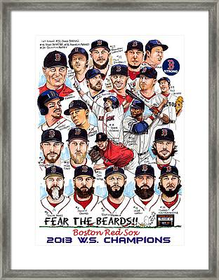 Boston Red Sox Ws Champions Framed Print by Dave Olsen