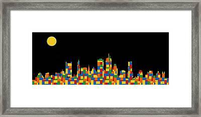 Boston Skyline 5 Framed Print by Andrew Fare
