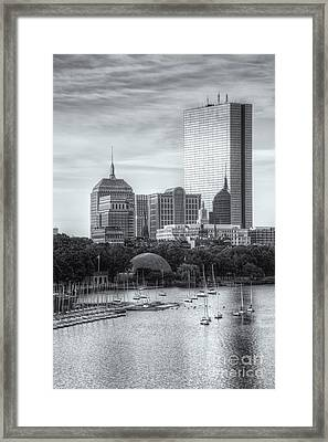 Boston Skyline V Framed Print by Clarence Holmes