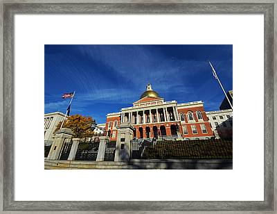 Boston State House Framed Print by Toby McGuire