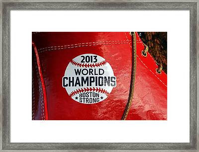 Boston Strong 2013 World Champions Framed Print by Juergen Roth