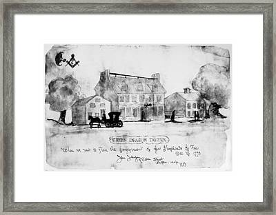 Boston: Tavern, 1773 Framed Print by Granger